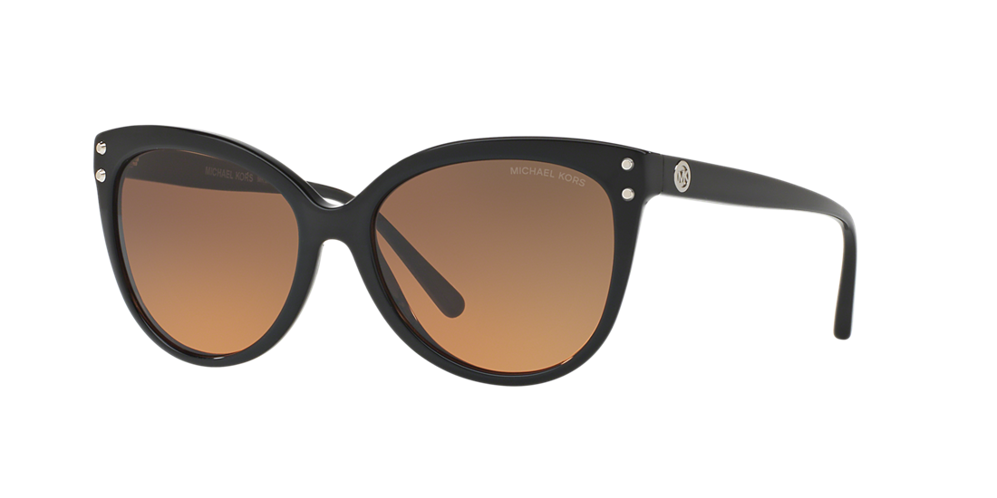 1ab073a0b1c5 Michael Kors MK2045 55 Grey-Black   Black Sunglasses