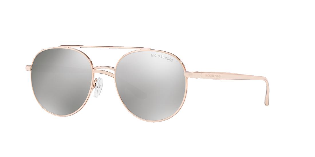 1e69e71199fcd Michael Kors MK1021 53 Silver   Pink Sunglasses   Sunglass Hut USA