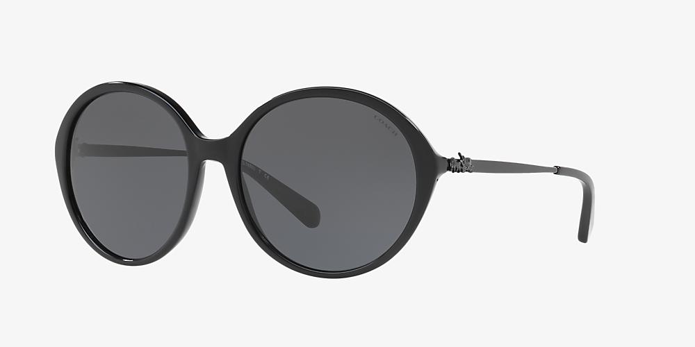 aec9dbf50810 Coach HC8214 56 Grey-Black & Black Sunglasses | Sunglass Hut USA