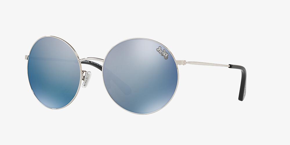 ca0fd9c79770 Coach HC7078 56 Blue & Silver Polarized Sunglasses | Sunglass Hut USA