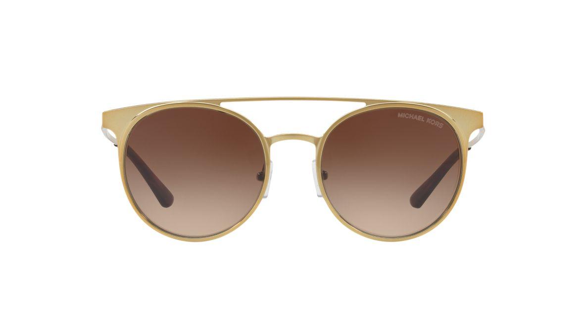 b704691c67838 Michael Kors MK1030 52 Brown   Gold Sunglasses
