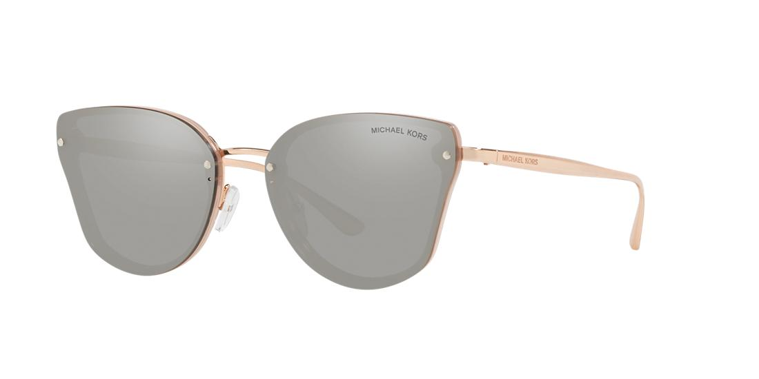 Michael Kors 58mm Mirrored Butterfly Sunglasses In Gold/ Silver Mirror