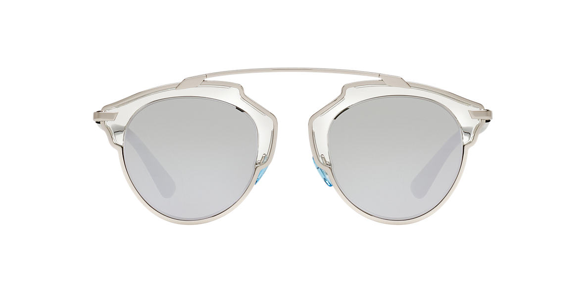 8862fcd40064 Christian Dior CD000561 48 Silver   Clear Sunglasses