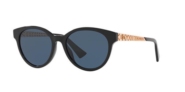 Dior Ama Caged Monochromatic Sunglasses, Ivory, Black/Gold