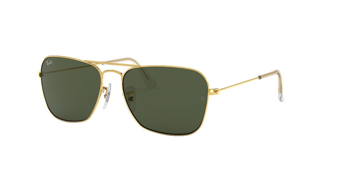 Ray-Ban RB3136 58 Green Classic G-15   Gold Sunglasses   Sunglass ... 9c3f81a5e284