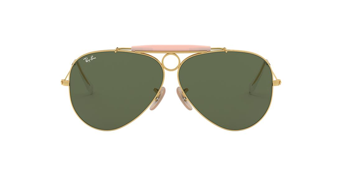 ce88ff7de4070 Ray-Ban RB3138 SHOOTER 58 Green Classic G-15   Gold Sunglasses ...
