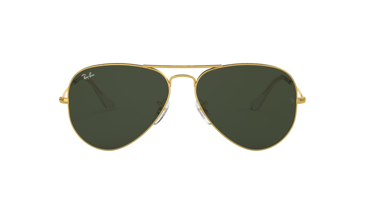 264618d904 Ray-Ban RB3025 55 Green Classic G-15   Gold Sunglasses