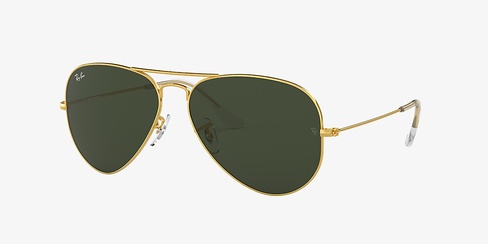 772bd06f5d Ray-Ban RB3025 AVIATOR CLASSIC 55 Green & Gold Sunglasses | Sunglass ...
