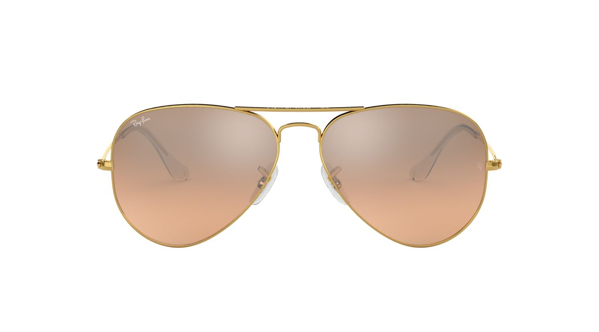 93a70cb30b5 Ray-Ban RB3025 58 Silver Pink Mirror   Gold Sunglasses