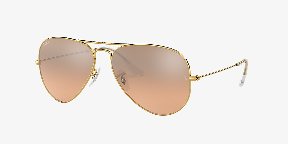 d4126ca36487 Ray-Ban RB3025 AVIATOR GRADIENT 58 Pink & Gold Sunglasses | Sunglass ...
