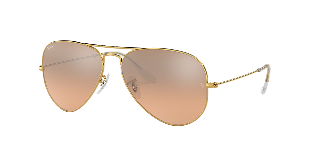 8ce0b5fde63 Ray-Ban RB3025 58 Silver Pink Mirror   Gold Sunglasses
