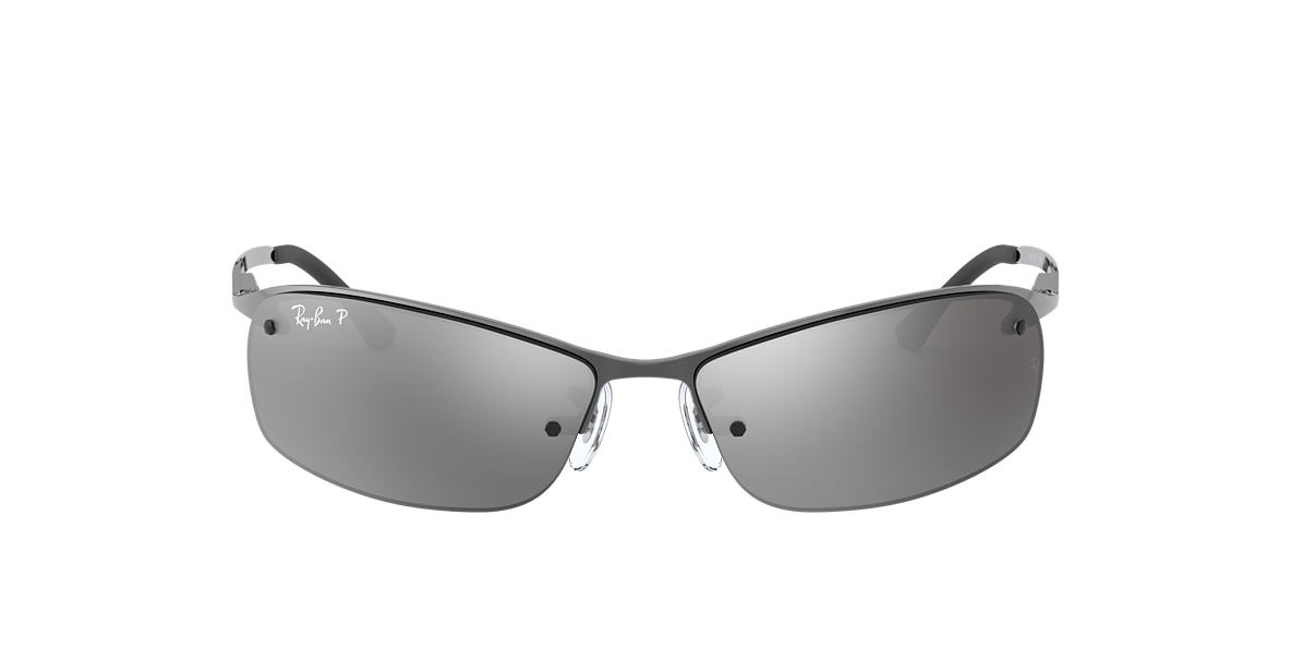 3be925e48a Fit  STD. RAY-BAN Gunmetal RB3183 Polarized Silver Mirror polarised lenses  63mm