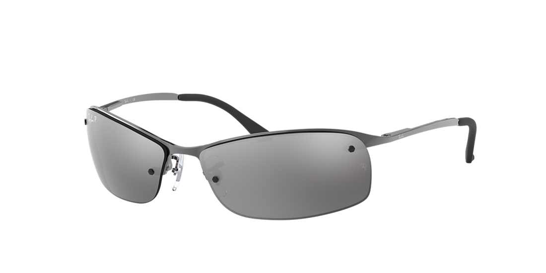 bffc0c49d7 Ray-Ban RB3183 63 Polarized Silver Mirror   Gunmetal Polarized ...