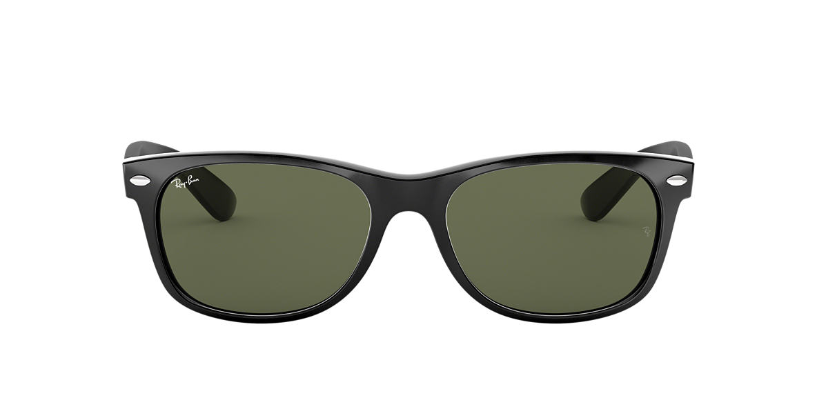 5b9f20ef0778c Ray-Ban RB2132 NEW WAYFARER CLASSIC 52 Green   Black Sunglasses ...