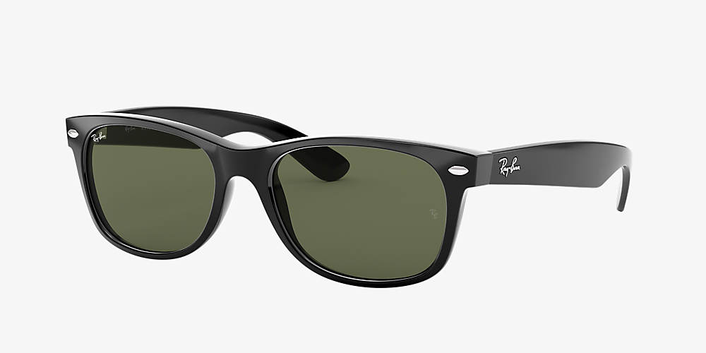 ee27717a2 Ray-Ban RB2132 NEW WAYFARER CLASSIC 52 Green & Black Sunglasses ...