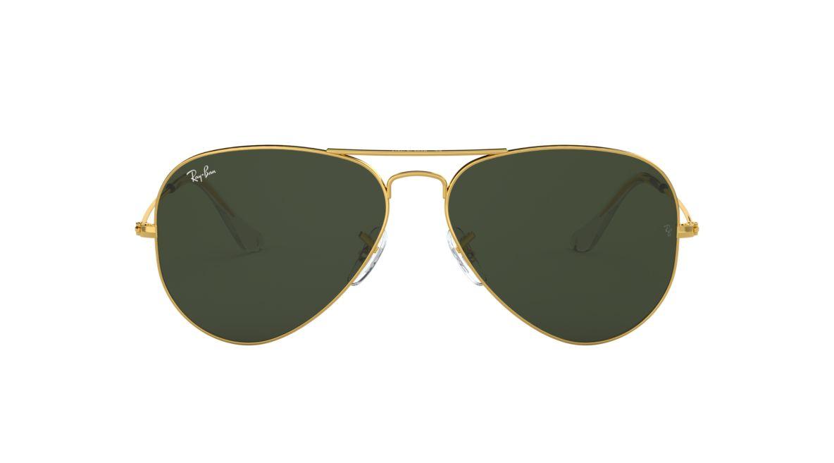 4c700b779c9 Ray-Ban RB3025 62 Green Classic G-15   Gold Sunglasses