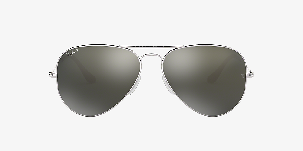 53f527f96 ... Ray-Ban RB3025 AVIATOR CLASSIC Silver/Gray /Polarized image ...