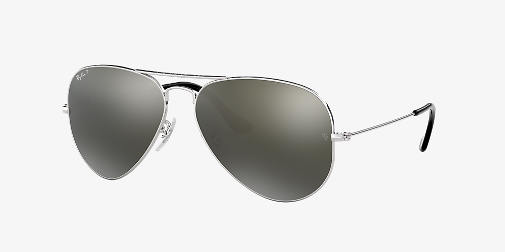 53b886fe6 Ray-Ban RB3025 AVIATOR CLASSIC Silver/Gray /Polarized image ...