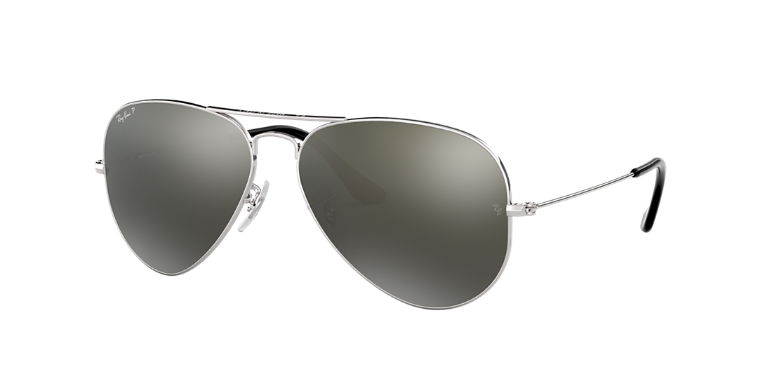 6e565909b5ce Ray-Ban RB3025 58 Polarized Grey Mirror Silver   Silver Polarised ...