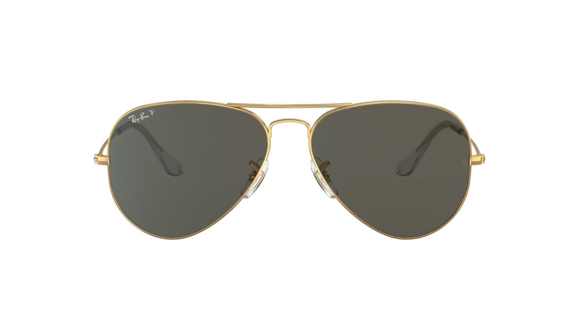 Ray-Ban RB3025 55 Polarized Green Classic G-15   Gold Polarized ... aba36a376