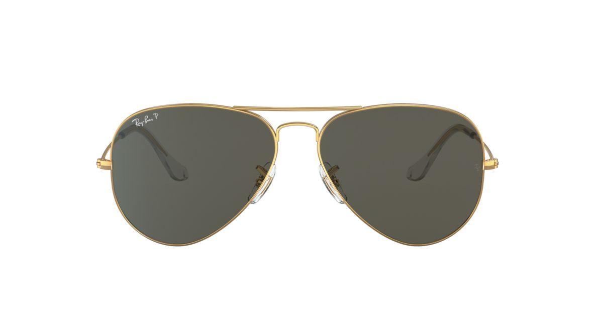 6086d710d5270 Ray-Ban RB3025 62 Polarized Green Classic G-15   Gold Polarized Sunglasses