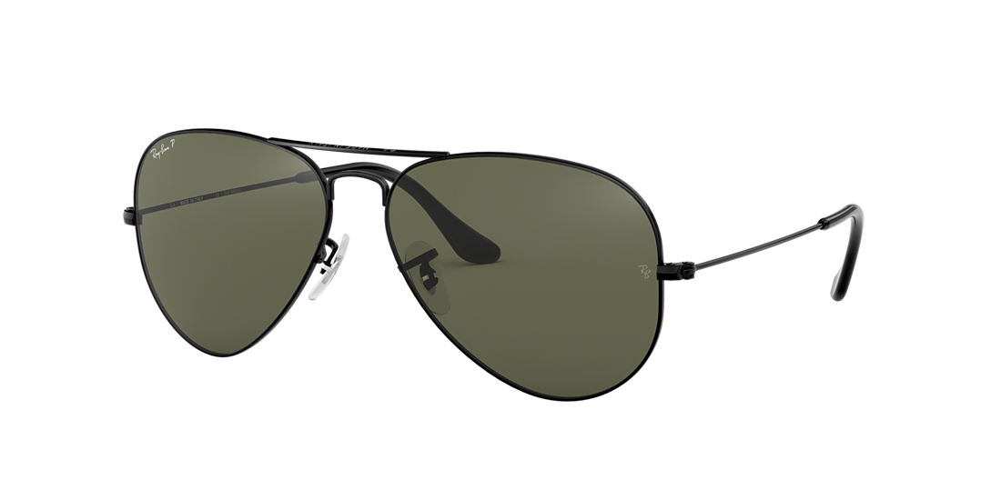 Ray-Ban RB3025 55 Polarized Green Classic G-15   Black Polarized ... 502bb8ca7b