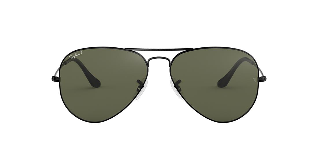 4a285ae411 Ray-Ban RB3025 62 Polarized Green Classic G-15   Black Polarized ...