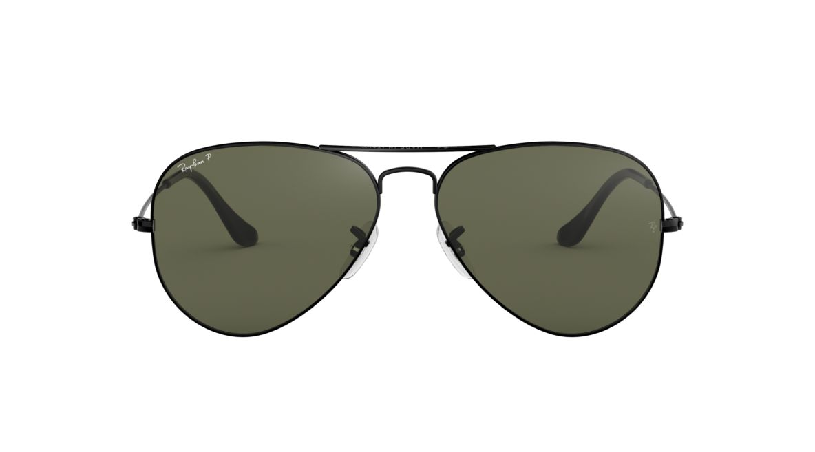 cad11aeca5 Ray-Ban RB3025 62 Polarized Green Classic G-15   Black Polarized Sunglasses
