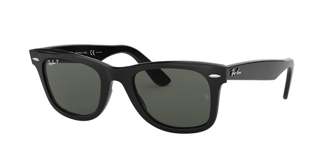 Ray-Ban Wayfarer Black Sunglasses, Polarized - rb2140
