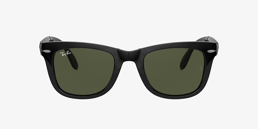 5a0e35412 Ray-Ban RB4105 50 Green Classic G-15 & Black Sunglasses | Sunglass ...