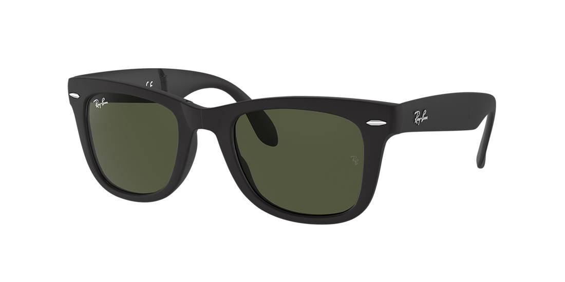 Ray-Ban Folding Wayfarer Black Matte Square Sunglasses - rb4105