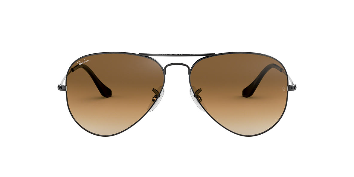 Gunmetal RB3025 AVIATOR GRADIENT Brown Gradient  55