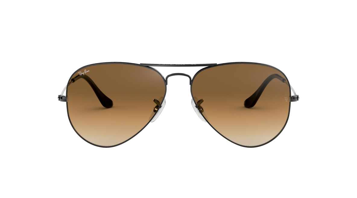 05dcc83a01479 Ray-Ban RB3025 58 Light Brown Gradient   Gunmetal Sunglasses ...