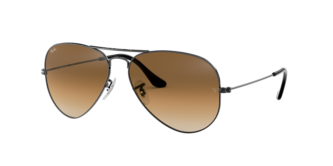 d70a1fd8b0a Ray-Ban RB3025 58 Light Brown Gradient   Gunmetal Sunglasses ...