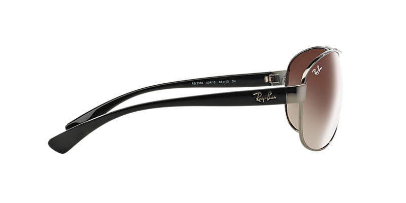 6cb05f18493 Ray-Ban RB3386 67 Brown Gradient   Gunmetal Sunglasses