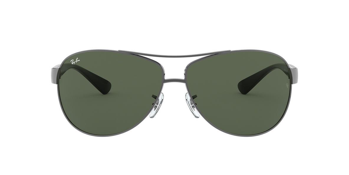 Gunmetal RB3386 Green  67