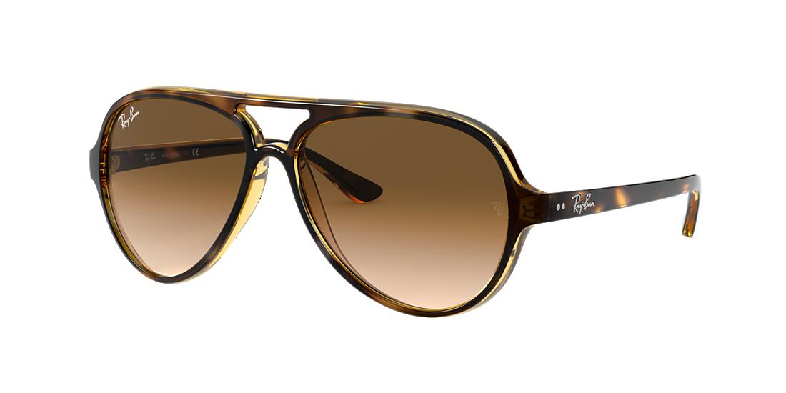 72b39f1288 Ray-Ban RB4125 59 Light Brown Gradient   Tortoise Sunglasses ...