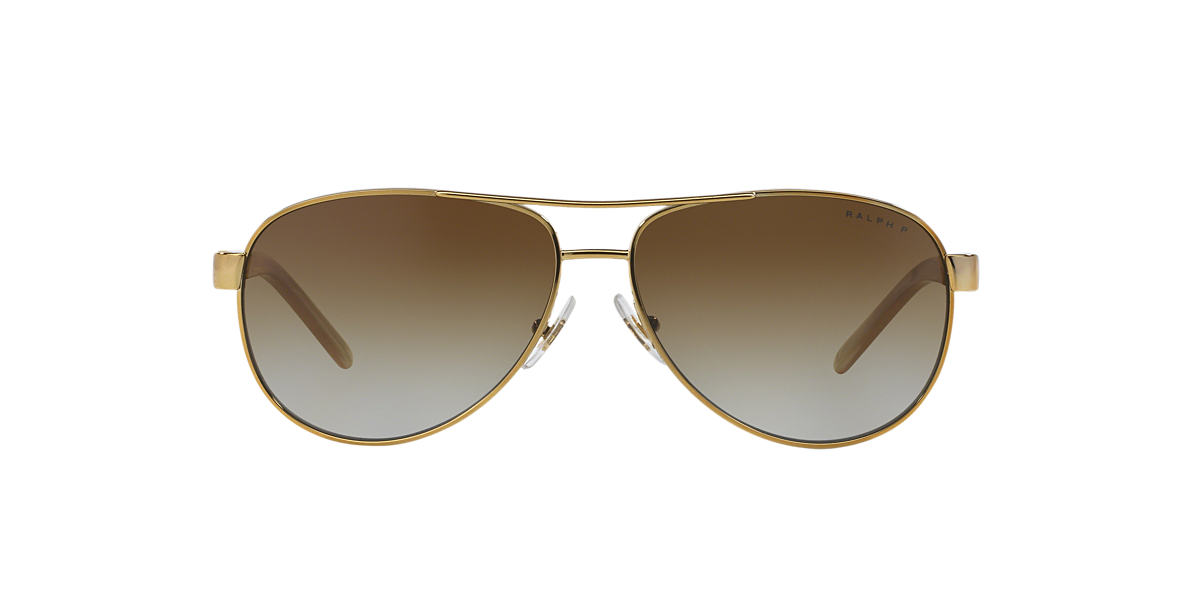 f9008124e Ralph RA4004 59 Brown & Gold Polarized Sunglasses | Sunglass Hut USA