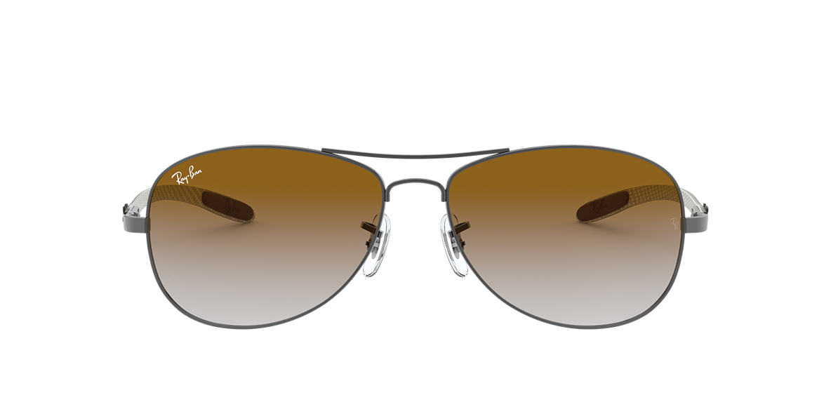 54f68fb4a4 Ray-Ban RB8301 59 Light Brown Gradient   Gunmetal Sunglasses ...