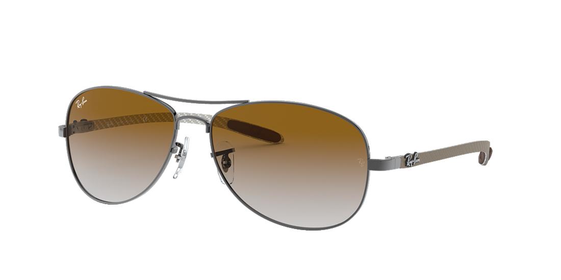 49255942fb3 Ray-Ban RB8301 59 Light Brown Gradient   Gunmetal Sunglasses ...