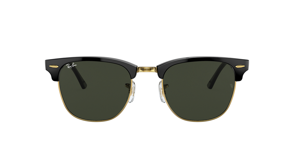 3904684f5 Ray-Ban RB3016 CLUBMASTER CLASSIC 51 Green & Black Sunglasses ...