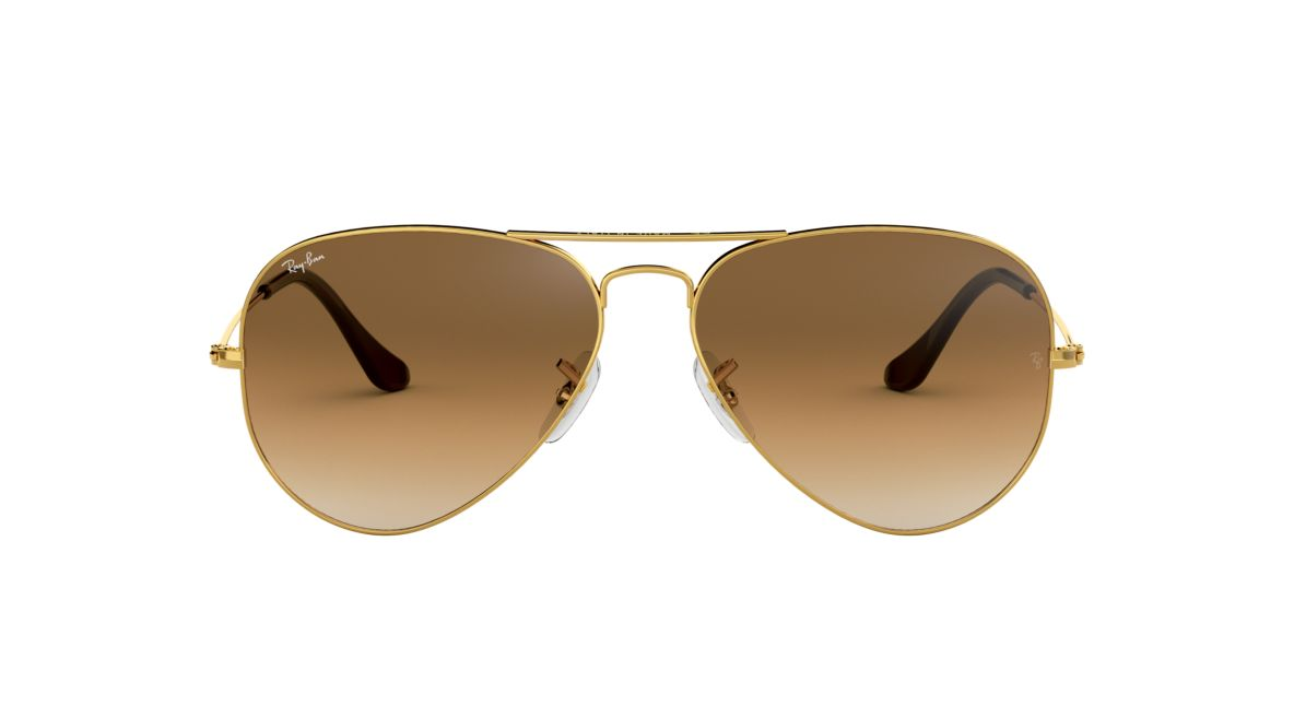 e2dbba88b11 Ray-Ban RB3025 58 Light Brown Gradient   Gold Sunglasses