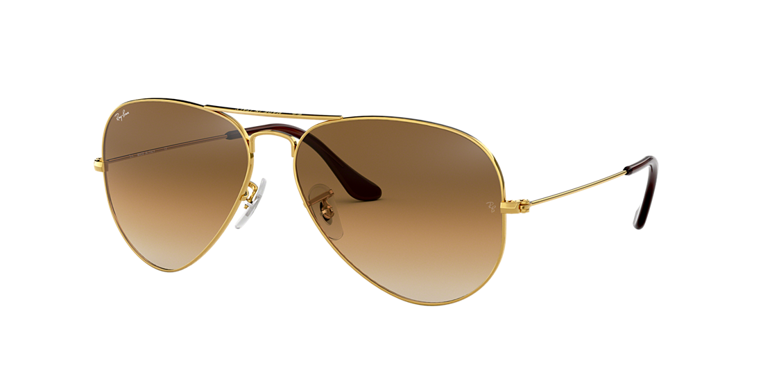73fbef6a666 Ray-Ban RB3025 58 Light Brown Gradient   Gold Sunglasses