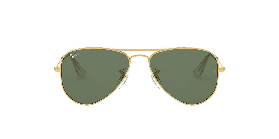 Ray-Ban Jr. RJ9506S AVIATOR KIDS 50 Green & Gold Sunglasses ...