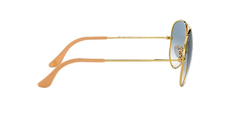 17e3cbffc6 Ray-Ban RB3025 55 Light Blue Gradient   Gold Sunglasses