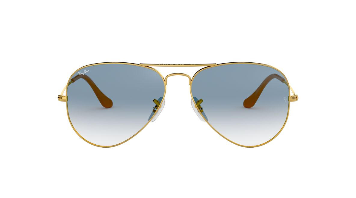 Ray-Ban RB3025 58 Light Blue Gradient   Gold Sunglasses   Sunglass ... d7d259a28b