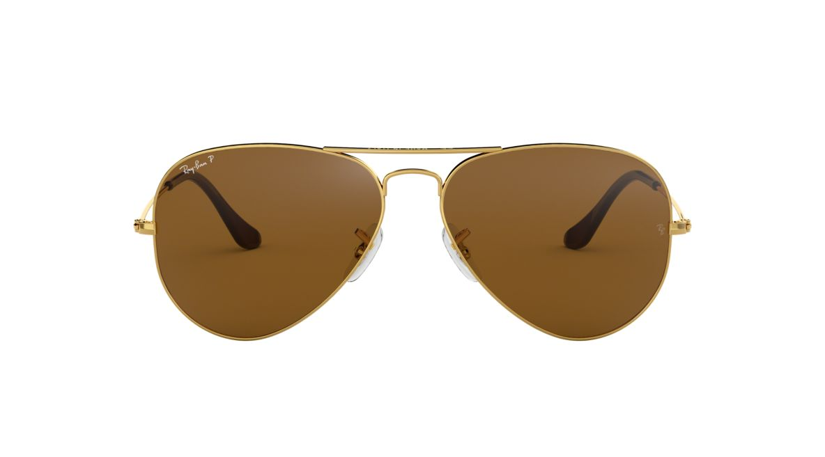 239567faa9 Ray-Ban RB3025 62 Polarized Brown Classic B-15   Gold Polarized Sunglasses