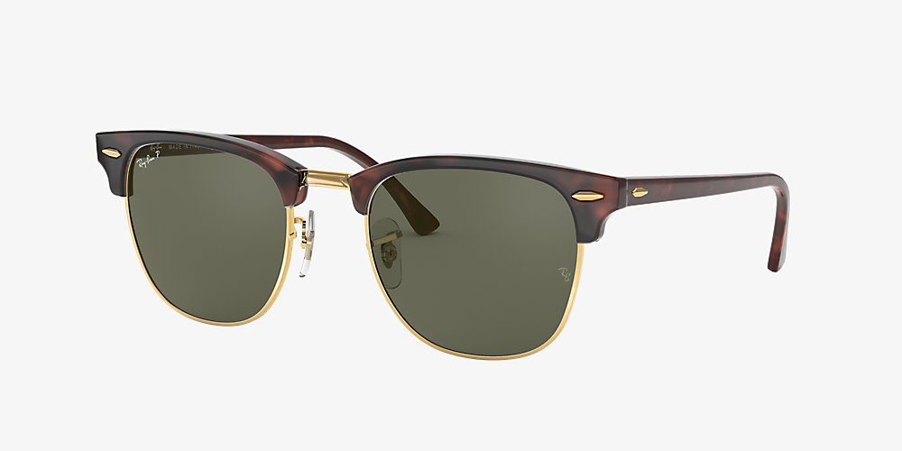 a57398468dc9 ... G-15 49. Ray-Ban RB3016 CLUBMASTER CLASSIC Tortoise/Green /Polarized  image ...