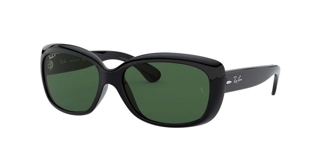 790d2c6529 Ray-Ban RB4101 JACKIE OHH 58 Polarized Green Classic G-15   Black ...