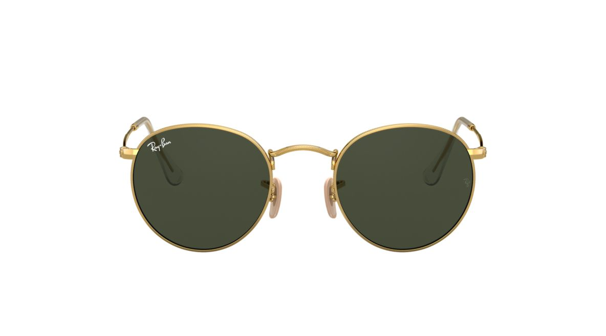 f1c2a9e4a6d Ray-Ban RB3447 47 ROUND METAL 47 Green Classic G-15   Gold Sunglasses